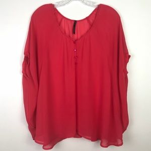 Tops - Flowing Fuscia Top Size Large
